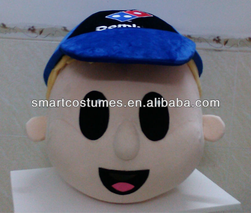 custom make mascot costumes domino's pizza mascot head