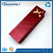 Customized logo printing red kraft paper bag for grape wine