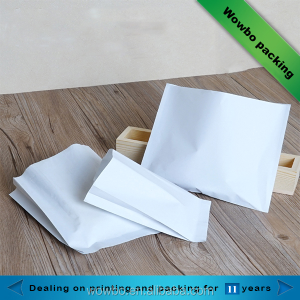 Small pure white fried chicken packaging bag
