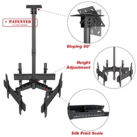 Height Adjustment Telescoping TV Bracket Mounting TV Ceiling Mount For Triple Screens