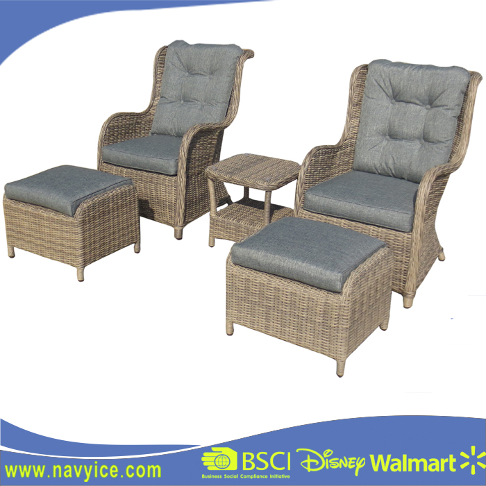 Used Modern aluminum cane PE rattan sofa round wicker furniture Set Outdoor Leisure garden outback furniture