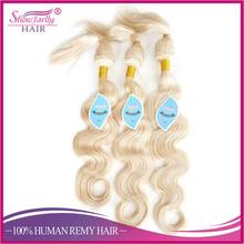 Blonde brazilian virgin hair weave premium glueless hair braid in weave braid in human hair bundles