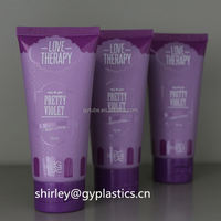 Custom clear plastic PVC/PET tube packaging with cap,transparent clear plastic seamed tubes wholesale