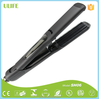 Alibaba.com Professional Electronic Steam Hair Straightener Straightening Flat Irons PTC Heater Styling Tools