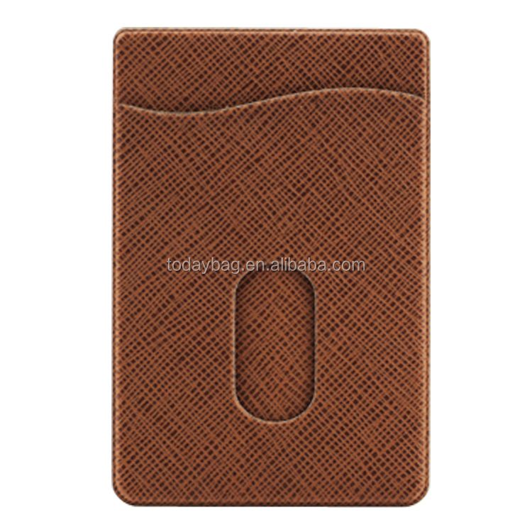 Self Adhesive leather mobile phone card holder