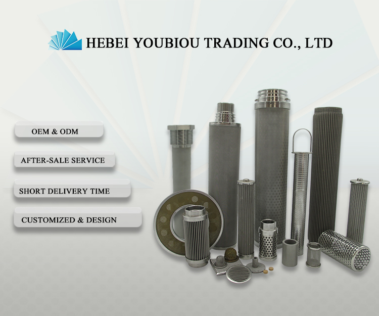 interchangeable porous metal filter element cartridges