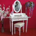 woman mirror dressing table with 2 drawers