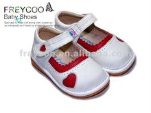 High quality and fashion leather Toddler/Baby girl shoes PB-6067WH