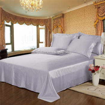 queen size satin silk bed sheet