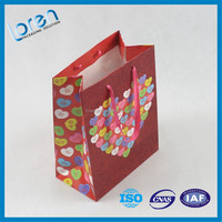 Top Quality lpowdered gold gift paper shopping bag with OEM logo (manufacturer sale price)