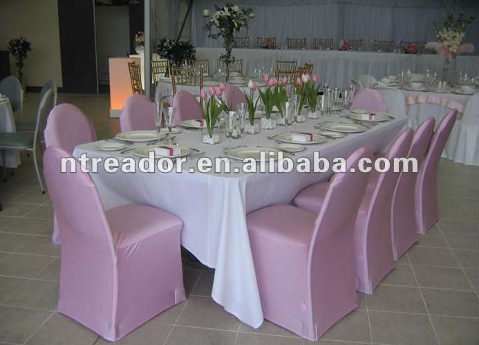 Pink Spandex Chair Cover Slipcover