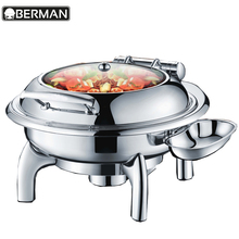 Catering equipments restaurant buffet food warmers silver plated roll top chafing dish for sale in dubai