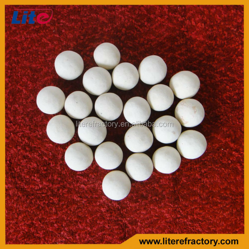 manufacture top quality good slag resistance alumina ball for regenerative heating furnace