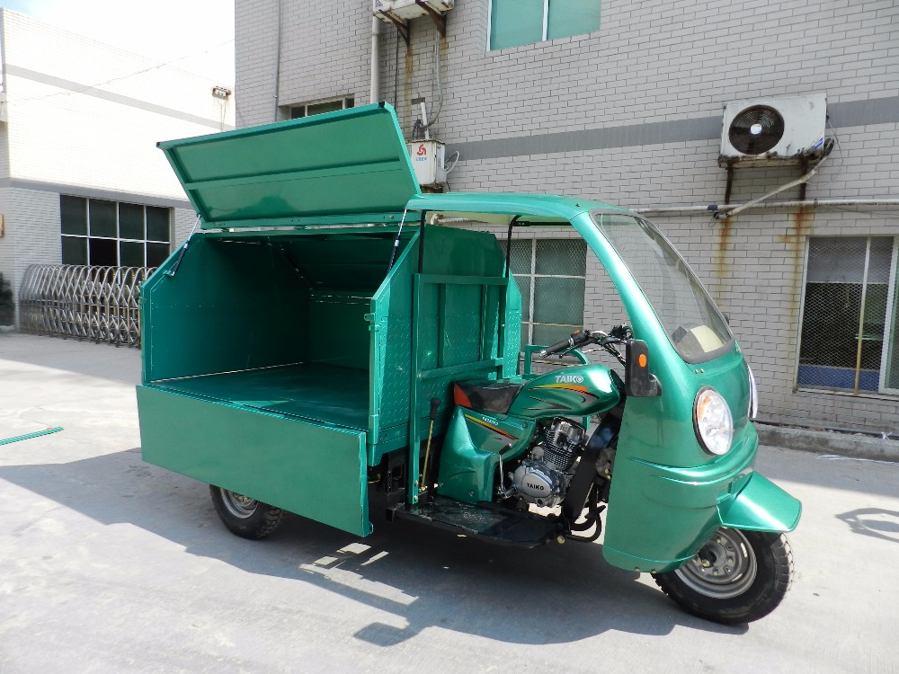 Heavy Garbage Collecting 200CC for sale 3 Wheel Garbage Truck Collecting Trash Rubbish Litter Collection