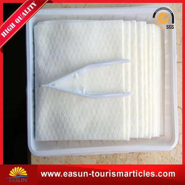 Custom nonwoven disposable towel soft airlines disposable face towel wholesale towel airline