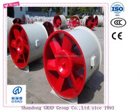 Wall mounted ventilation system exhaust impeller axial fan blower