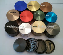 "CNC aluminum herb grinder of 4pcs in 1.5"", 2"", 2.2"", 2.5"" factory price from China"