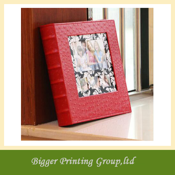 High-quality Pu leather family photo book/open hot sex girl photo album with pvc sheets