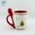 Home office drinkware gifts christmas gift ceramic coffee mug with spoon
