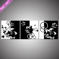 Wall Mounted Acrylic Display Promotional Products Ideas Gifts Abstract Black Flower Wall art