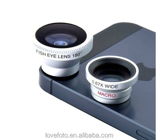 clamps 4 in 1 Phone camera Lens for iPhone 6 5S Samsung s5 note 3