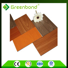 Greenbond modern design prefect nature wood finish wall cladding panel acm panel building material