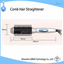 2 in 1 no heat hair straightener with comb