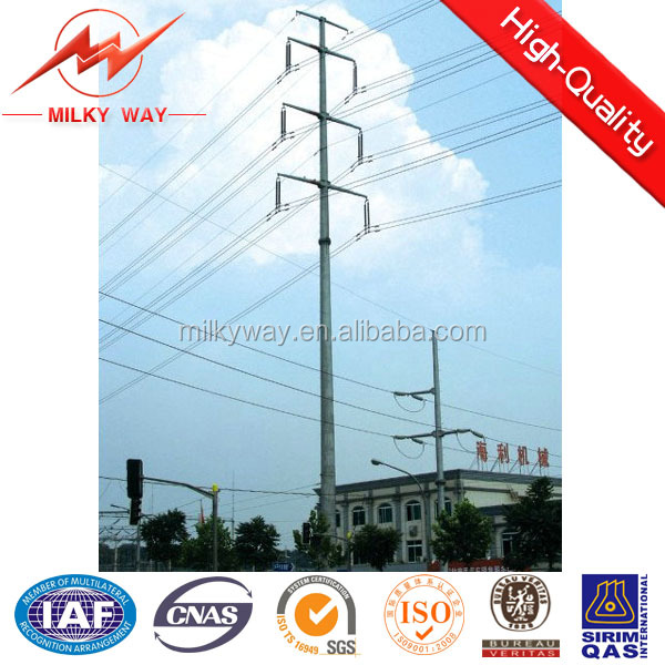 33KV connical or polygonal electric wooden poles electricity transmission