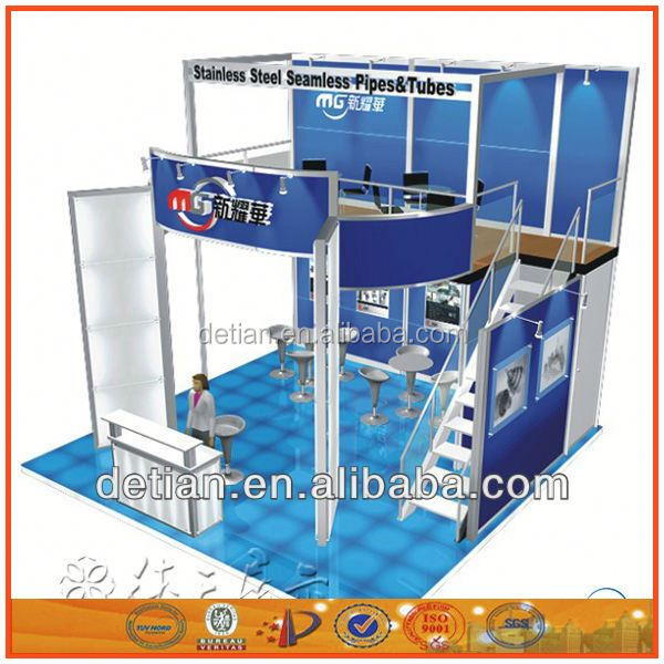 double deck china exhibition booth/china exhibition booth service design and construction/booth building service