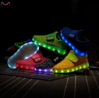 2016 hot selling led kids yeezy light shoes