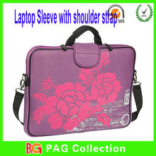 Neoprene Laptop Carrying Bag Case with Handle & Shoulder Strap