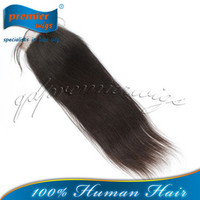 Wholesale Premier hair extension drop shiping Indian remy hair light yaki bleached knots swiss lace front closure with baby hair