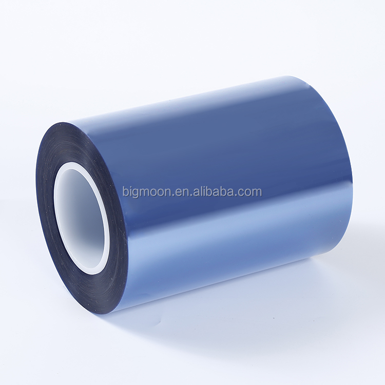 Environmental protection high flatness static small BOPET blue film blue Pet Film for Coated tape decorative materials