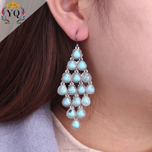 EYQ-00461 the latest design handmade earrings turquoise diy earrings for women