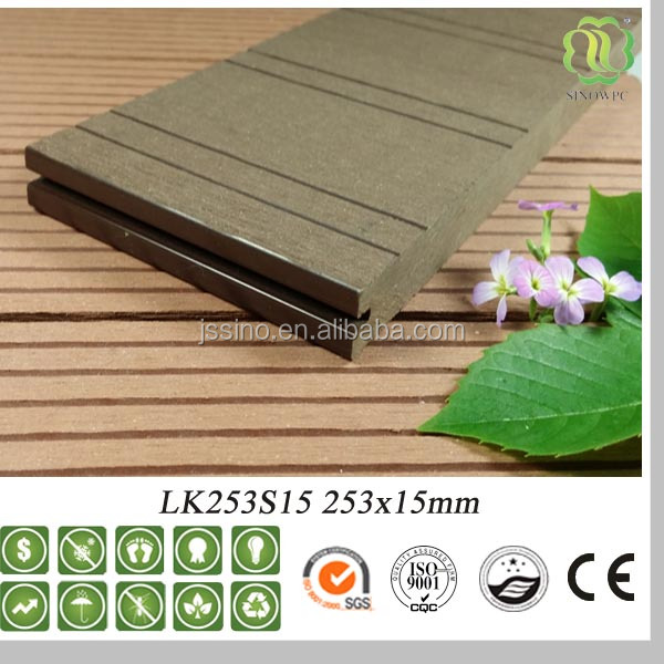 Recycled Solid / Hollow Outdoor WPC Flooring / Forester Solid <strong>oak</strong> Flooring