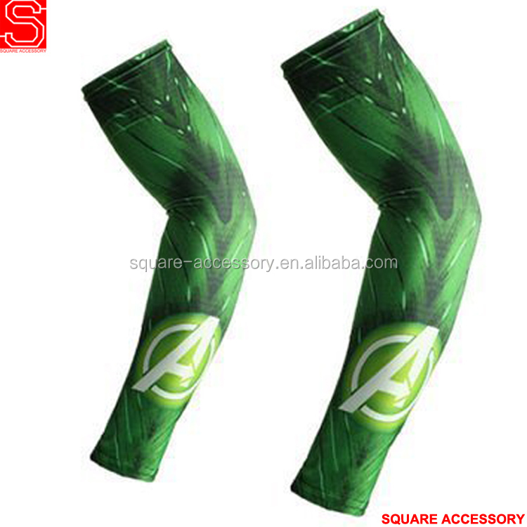 Custom sports summer outdoor driving cycling sun shade cooling compression arm sleeve