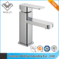 Modern Style Brass Single Hole Wash Basin With Mixer Tap