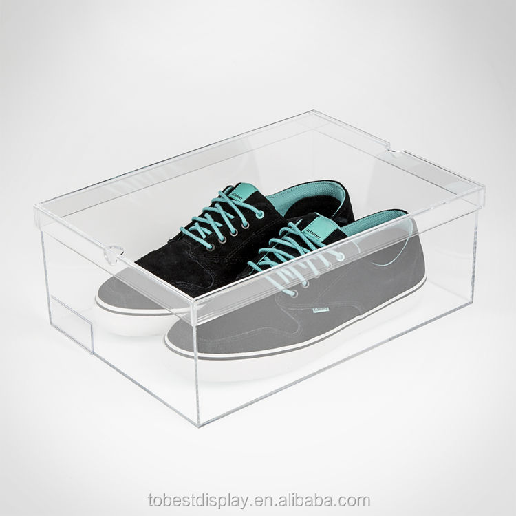 Clear Glass Shoe Boxes