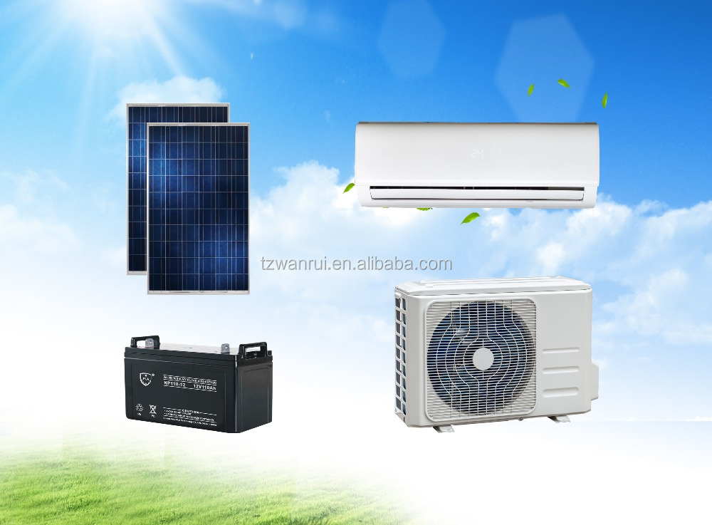 9000-24000BTU Split 100% DC 48V Off Grid Solar powered Air Conditioner system
