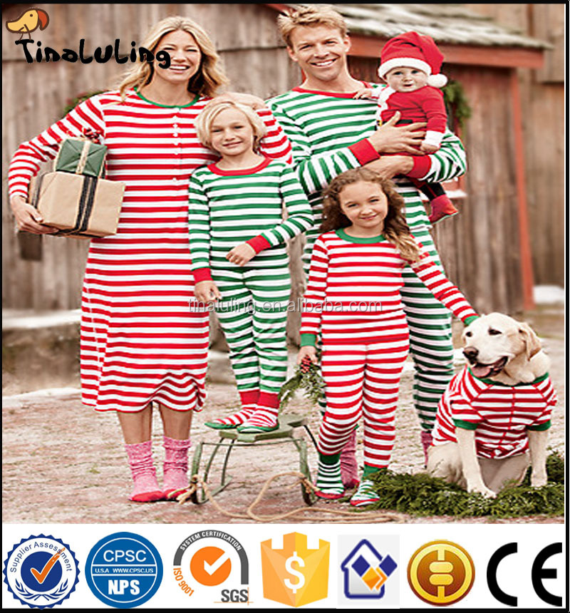 wholesale christmas pajamas kids monogram blanks stripe pajamas blanks