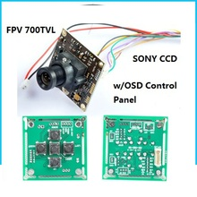 "3U-80073 For Rc Drone Quadcopter Fpv 700Tvl Lines 1/3"" Sony Super Had Ii Ccd Wdr Board Mini Camera+Osd Control Panel+3.6Mm Lens"