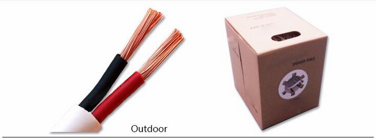 Chinese factory good price Silver plated copper speaker cable with transparent pvc