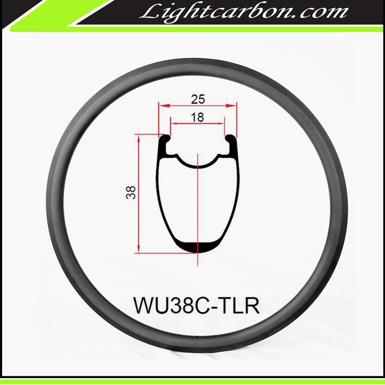 LightCarbon 2017 new Wide U shape carbon 700c road bike aero carbon fiber bicycle rim WU38C-TLR