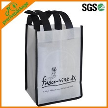 2 Bottle Non Woven Wine Bag With Custom Image