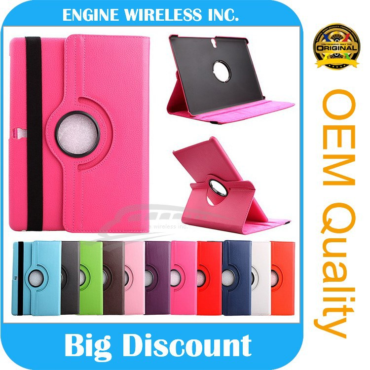 360 Rotating Stand Flip PU Skin Cover Case For iPad Pro