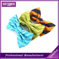 Colored stripe woven printing bow tie