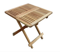 Nordic square strip solid oiled walnut wood folding side table