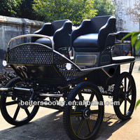 Double Seat Horse Carriage /horse drawn in 2014 manufacture in China
