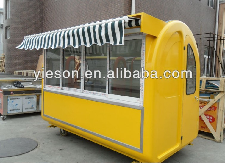 Yieson Hot Sale Street Fast Food Kiosk mobile crepe cart coffee car YS-BF230D
