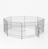 Folding portable 8 panels metal pet fence